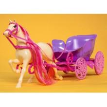 Лошадь+карета для куклы Штеффи
