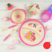 """Набор посуды круглый """"My Little Pony Rainbow Dash"""" из бамбукового волокна"""